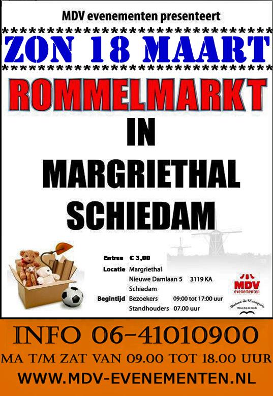 18 Maart 2018 Rommelmarkt Margriethal in Schiedam