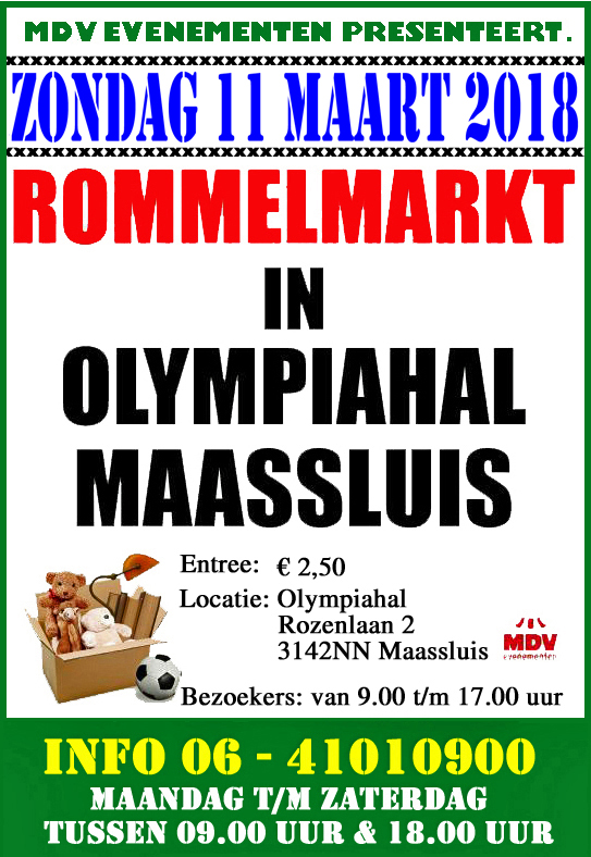 11 Maart 2018 Rommelmarkt Olympiahal in Maassluis