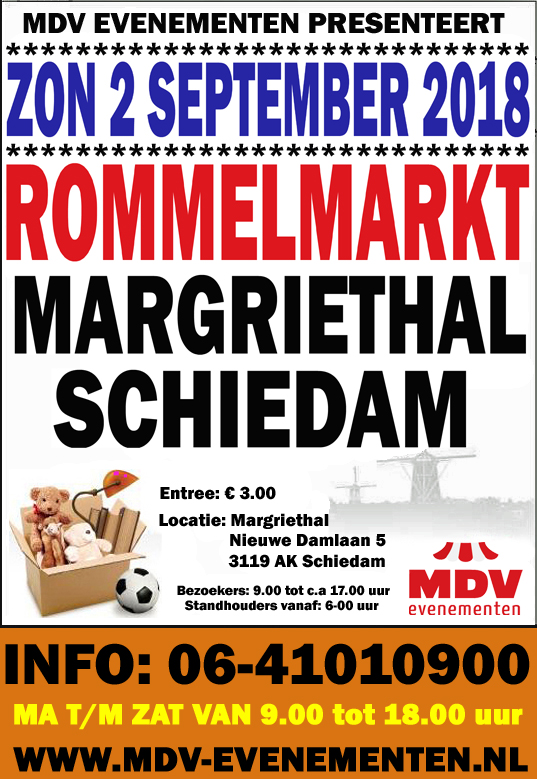 2 September 2018 Rommelmarkt Margriethal in Schiedam