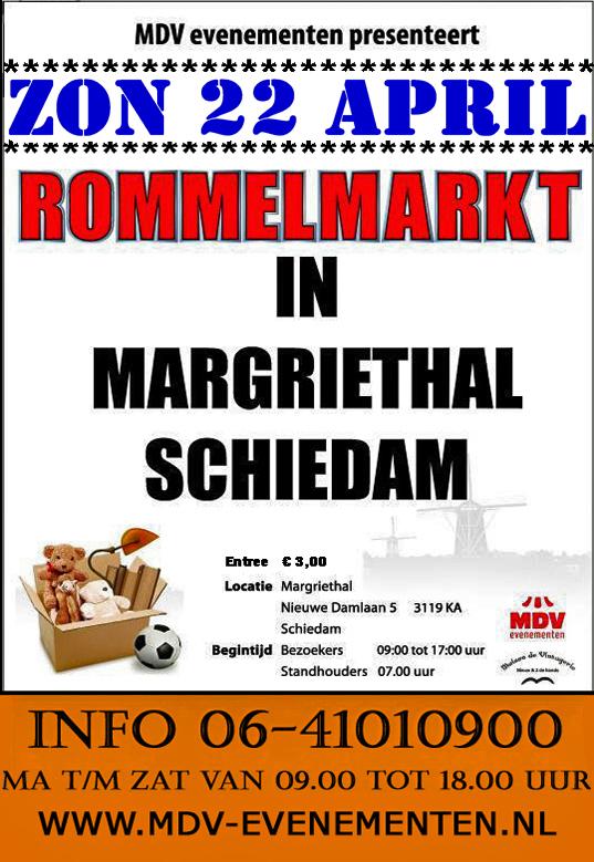 22 April 2018 Rommelmarkt Margriethal in Schiedam