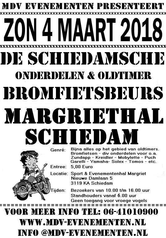 4 Maart 2018 Bromfiets & Onderdelenbeurs in Schiedam