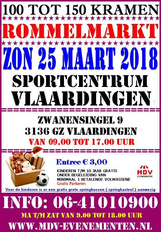 25 Maart 2018 Grote Rommelmarkt Sportcentrum Vlaardingen