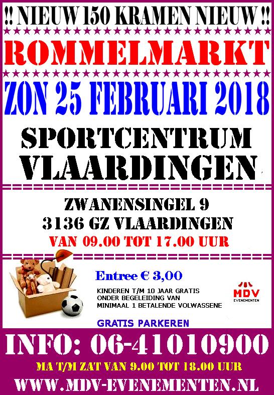 25 Februari 2018 Rommelmarkt Sportcentrum Vlaardingen