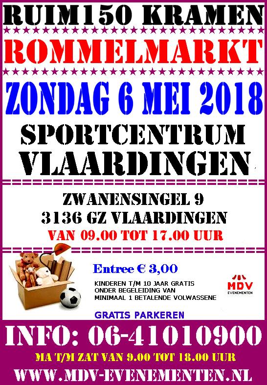 6 Mei 2018 Grote Rommelmarkt in Sportcentrum Vlaardingen ( Vlaardingen Holy )