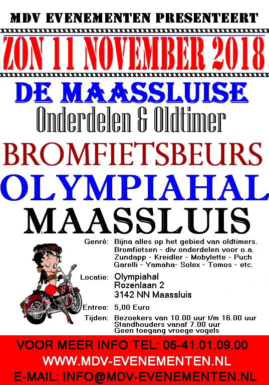 11 November 2018 Oldtimer Bromfiets & Onderdelenbeurs in Maassluis