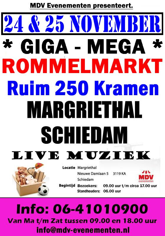 24 & 25 November ( ZONDAG VOLGEBOEKT ) de Giga Megamarkt in de Margriethal in Schiedam
