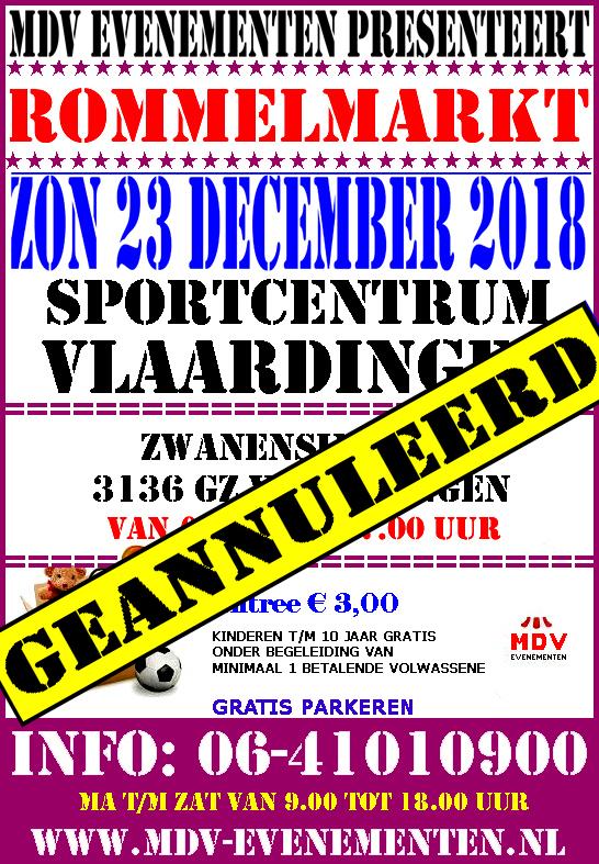 23 December 2018 ( GEANNULEERD ) Rommelmarkt Sportcentrum Vlaardingen