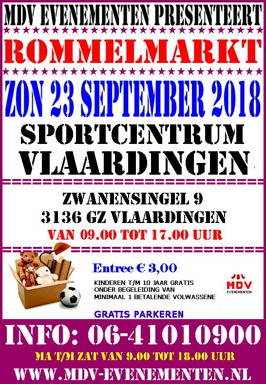 23 September 2018 Rommelmarkt Sportcentrum Vlaardingen