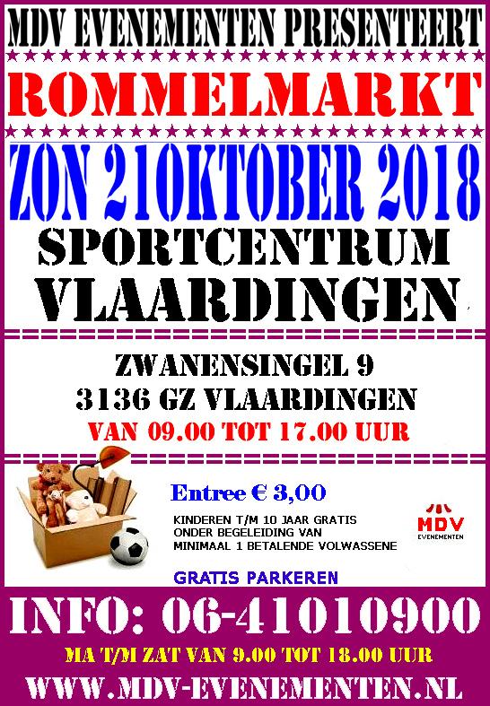 21 Oktober 2018 Rommelmarkt Sportcentrum Vlaardingen
