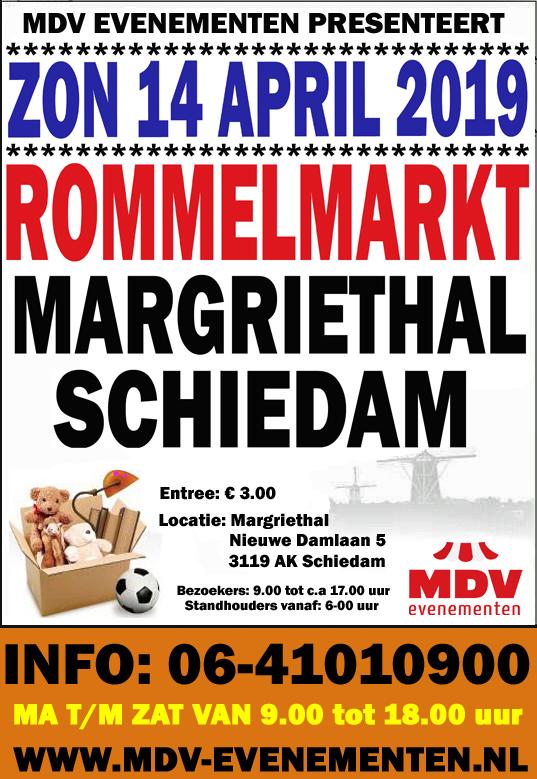 14 April 2019 ( GEEN HOEKKRAMEN MEER ) Rommelmarkt  Margriethal Schiedam