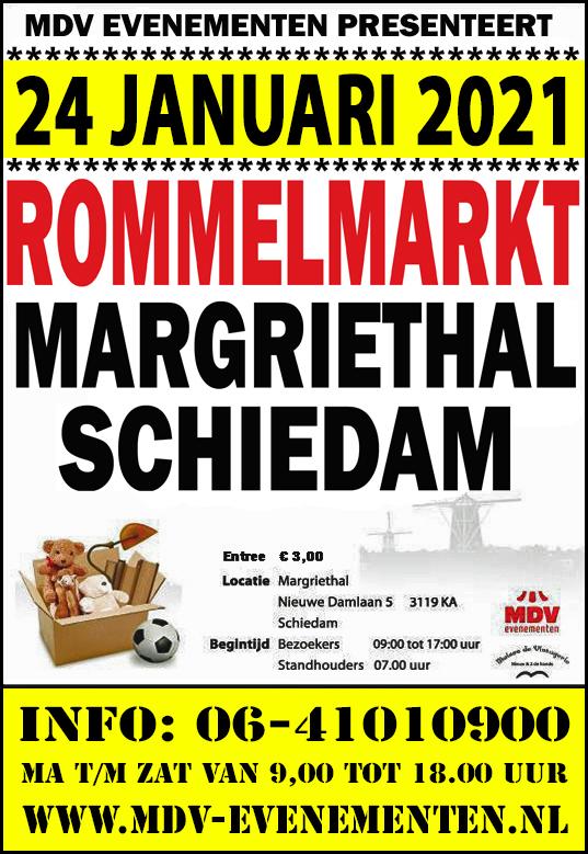 24 Januari 2021 Rommelmarkt Sporthal Margriet Schiedam