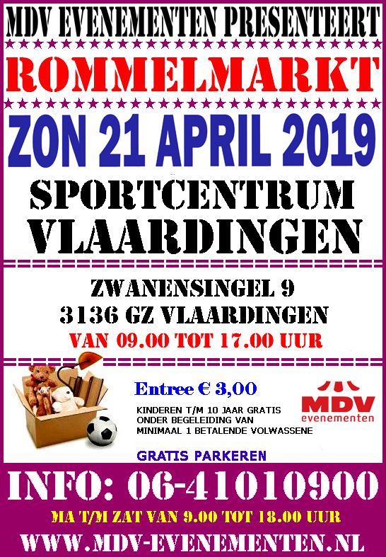 21 April 2019 Rommelmarkt Sportcentrum Vlaardingen