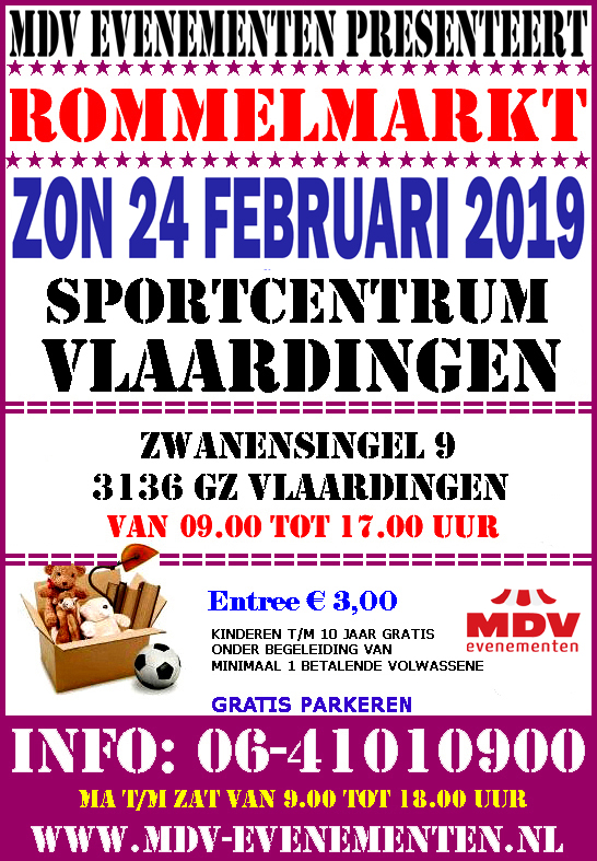 24 Februari 2019 Rommelmarkt Sportcentrum Vlaardingen
