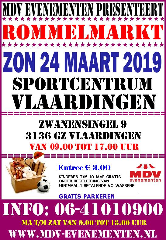 24 Maart 2019 Rommelmarkt Sportcentrum Vlaardingen