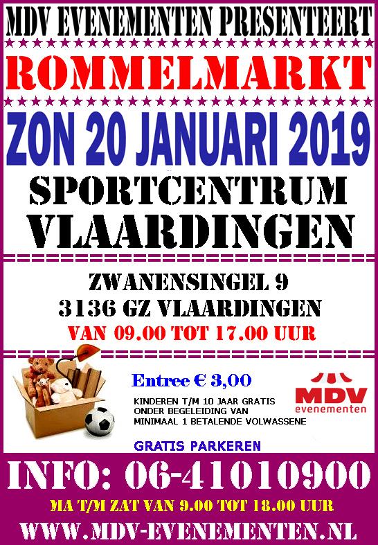 20 Januari 2019 Rommelmarkt Sportcentrum Vlaardingen