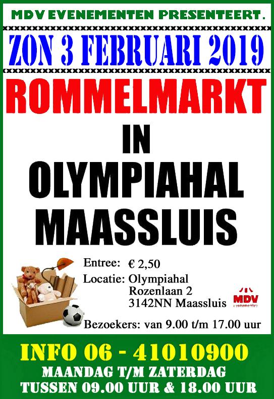 3 Februari  2109 Rommelmarkt Olympiahal in Maassluis