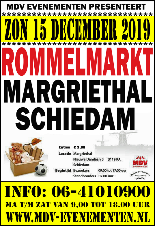 15 December 2019  Rommelmarkt Margriethal in Schiedam