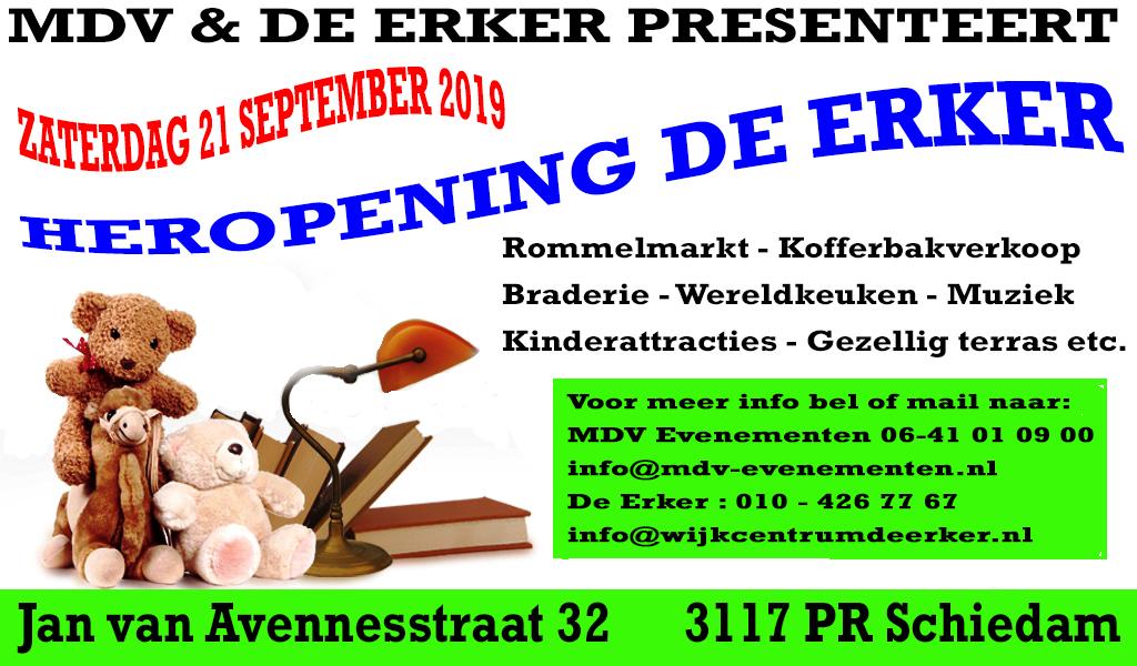 21 September 2019 Rommelmarkt met kofferbakverkoop bij de Heropening van de Erker