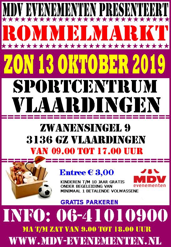 13 Oktober 2019 Rommelmarkt Sportcentrum Vlaardingen