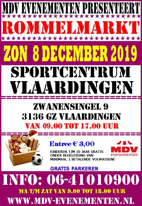 8 December 2019 Rommelmarkt Sportcentrum Vlaardingen