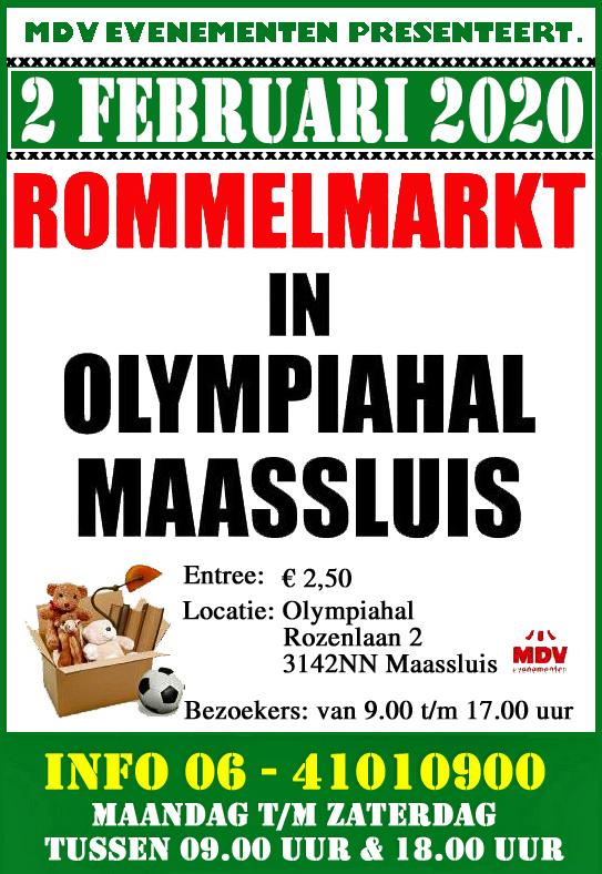 2 Februari 2020 Rommelmarkt Olympiahal Maassluis