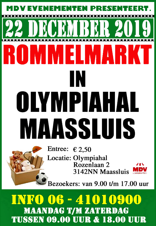 22 December 2019 Rommelmarkt Olympiahal Maassluis