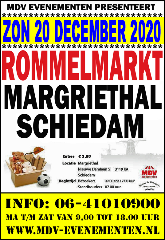 20 December 2020 Rommelmarkt Margriethal in Schiedam