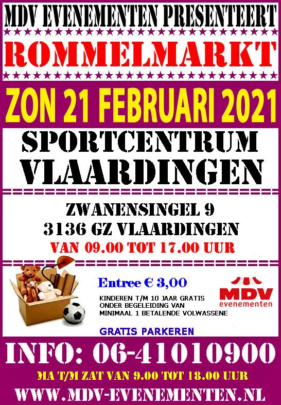 21 Februari 2021 Rommelmarkt Sportcentrum Vlaardingen
