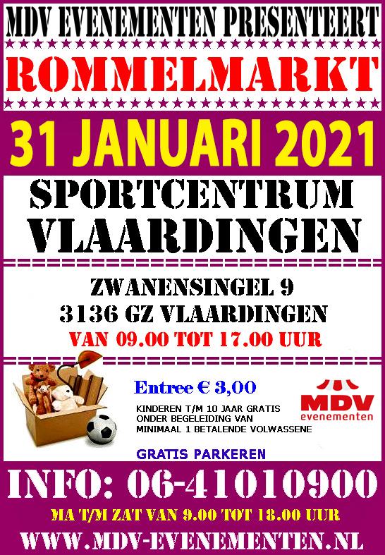 31 Januari 2021  Rommelmarkt Sportcentrum Vlaardingen