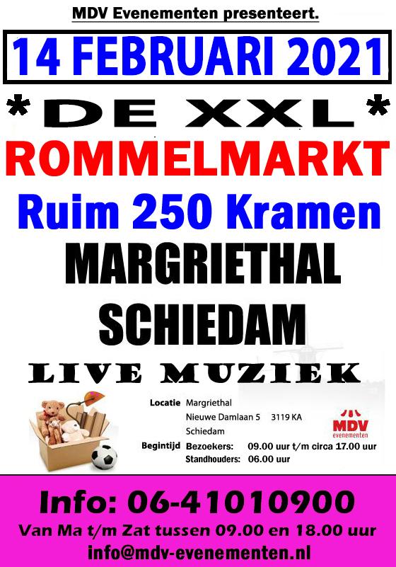 14 Februari XXL – Rommelmarkt Margriethal in Schiedam