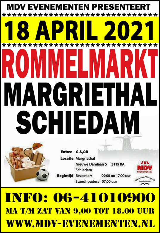 18 April 2021 Rommelmarkt Margriethal in Schiedam
