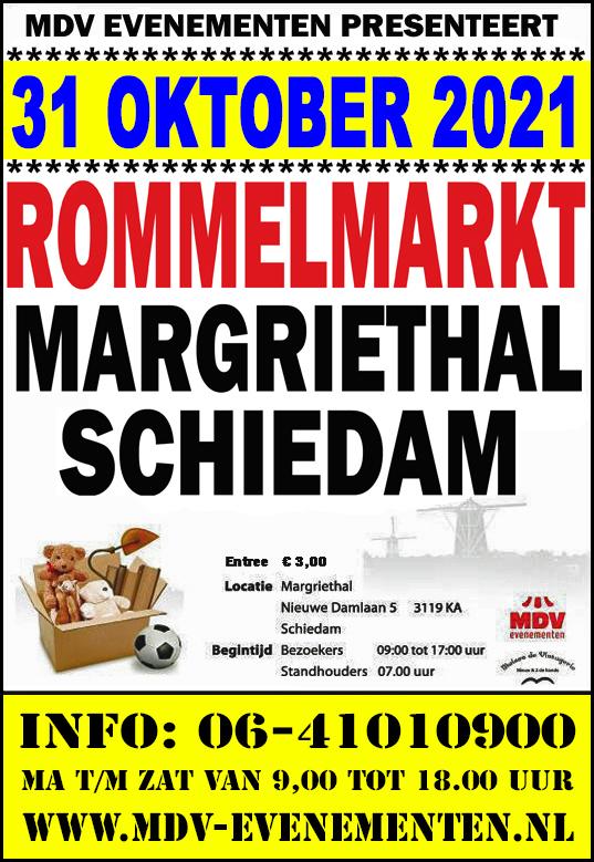 31 Oktober 2021 Rommelmarkt Margriethal in Schiedam
