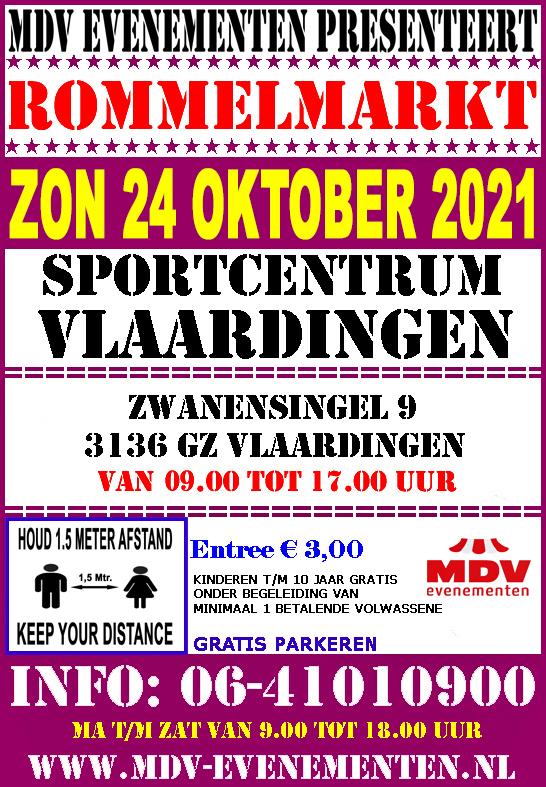 24 Oktober 2021 Rommelmarkt Sportcentrum Vlaardingen